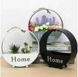 Round Shape Hanging Planter For Indoor And Outdoor Home Decoration