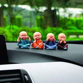 4 PCS CAR MONKS FOR CAR DECORATION