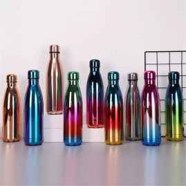 500 ML BRIGHT GRADIENT COLOR INSULATED VACUUM FLASK COLORFUL WATER BOTTLE