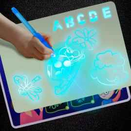 LUMINOUS DRAWING BOARD FOR KIDS WITH FLUORESCENT PEN