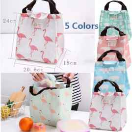 NEW SIMPLE PORTABLE LUNCH BAG CARTOON ANIMALS THERMAL INSULATED LUNCH BOX TOTE FOR WOMEN KIDS BAGS FASHION UNISEX PICNIC BAGS