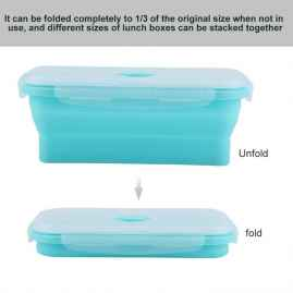 SILICON FOLDABLE LUNCH BOX CONTAINER 500ML