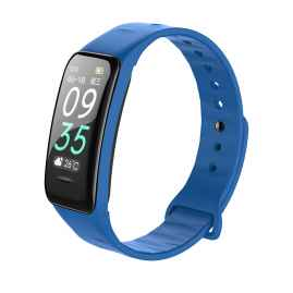 ZORDIK WearFit B1 Blue smart watch fitness heart rate sleep monitor blood pressure IP67 gifts