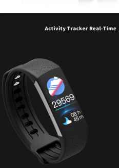 ZORDIK WearFit Black new B6 Waterproof ip67 Real Time Heart Rate Monitor smart bracelet