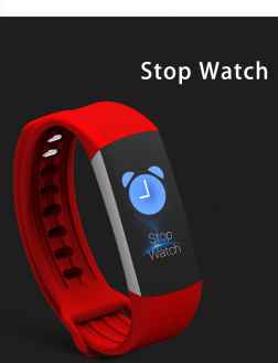 ZORDIK WearFit Red new B6 Waterproof ip67 Real Time Heart Rate Monitor smart bracelet