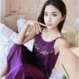 SATIN NIGHTIES PURPLE