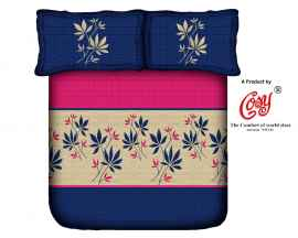 KING PROCION BEDSHEETS WITH 2 PILLOW COVER BLUE AND PINK