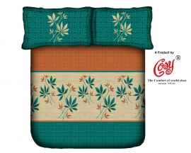 KING PROCION BEDSHEETS WITH 2 PILLOW COVER LEAF PRINT