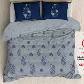 KING PROCION BEDSHEETS WITH 2 PILLOW COVER LIGHT BLUE