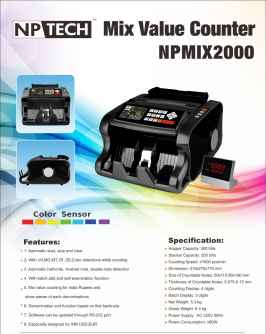 NP MIX 2000 NOTES COUNTING MACHINE
