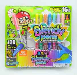 OYTRA BLENDY PENS 16 COLORS 120 COLOR COMBINATIONS AND 6 COLOR REVEAL POSTERS