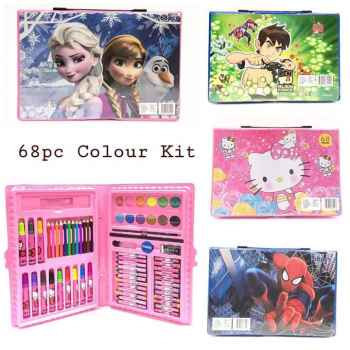 68 PCS CUTE COLORS KIT FOR KIDS STATIONERY SET COMPLETELY