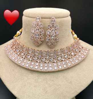 FULL DIAMOND NECKLACE PARTYWEAR FOR WOMEN