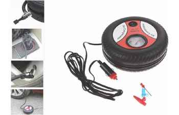 Air compressor Pump 12V for infalting Car tyre Bike tyre and Football 260 PSI